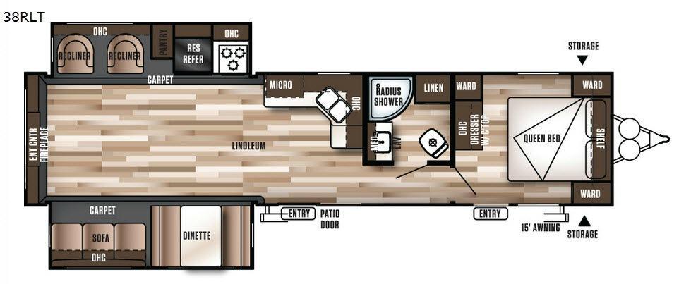Wildwood 38RLT Floorplan Image