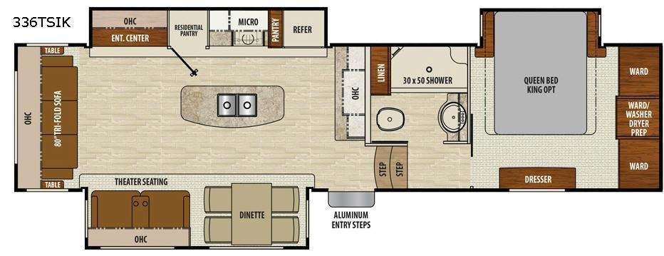 Floorplan - 2017 Chaparral 336TSIK Fifth Wheel