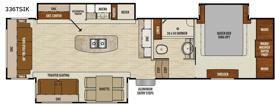 Chaparral 336TSIK Floorplan Image