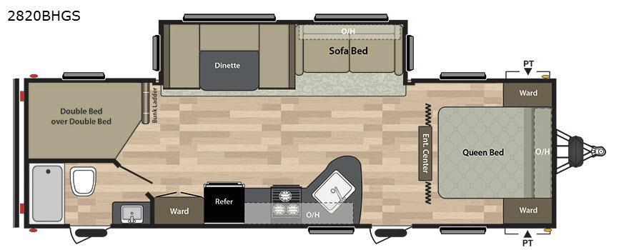 Summerland 2820BHGS Floorplan Image