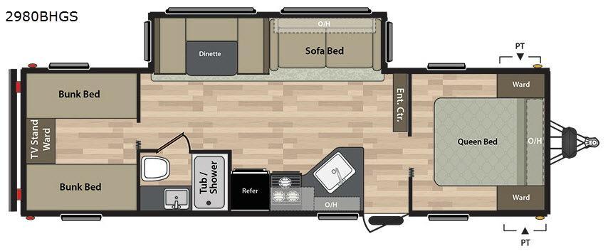 Summerland 2980BHGS Floorplan Image