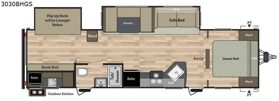 Summerland 3030BHGS Floorplan Image