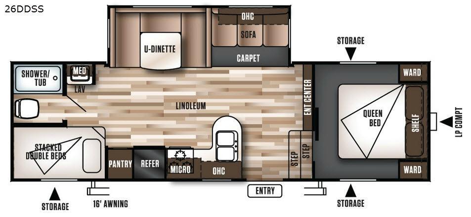 Wildwood 26DDSS Floorplan Image
