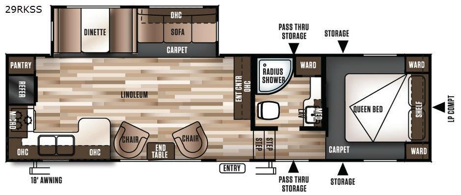 Wildwood 29RKSS Floorplan Image