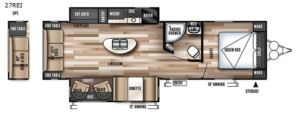 Wildwood 27REI Floorplan Image