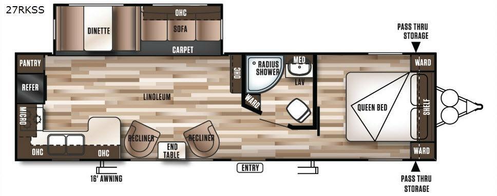 Wildwood 27RKSS Floorplan Image