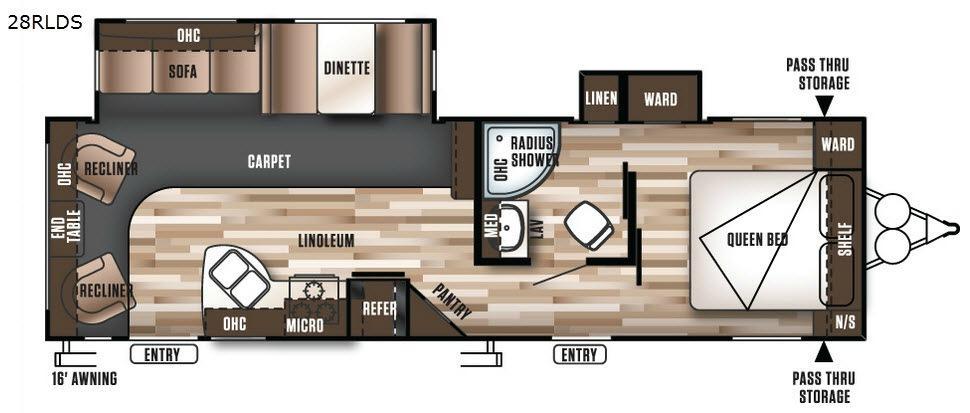 Wildwood 28RLDS Floorplan Image