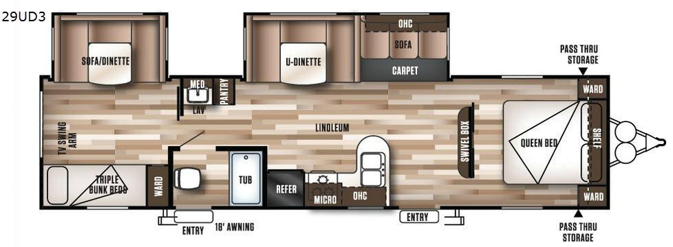 Wildwood 29UD3 Floorplan Image
