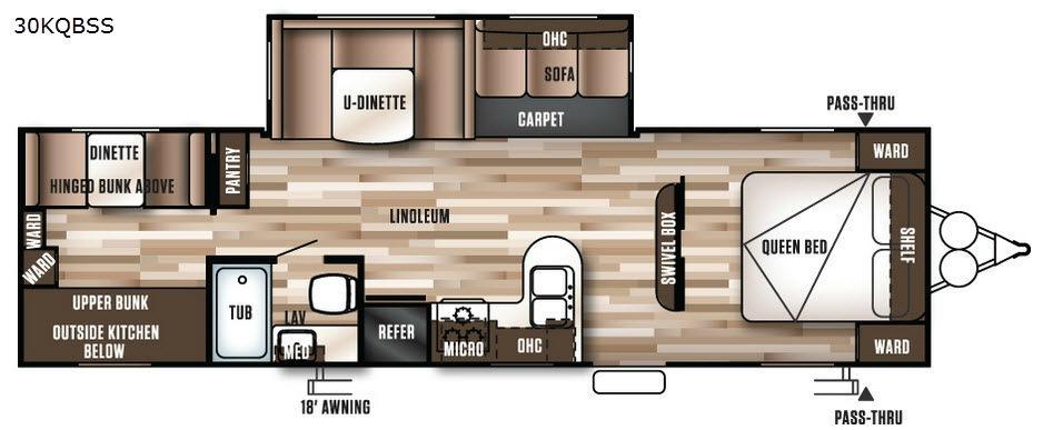 Wildwood 30KQBSS Floorplan Image