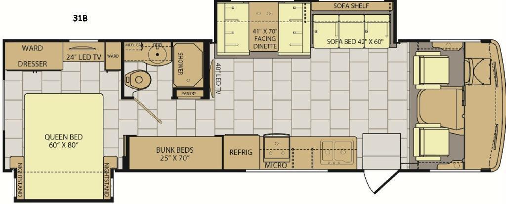 Admiral XE 31B Floorplan Image