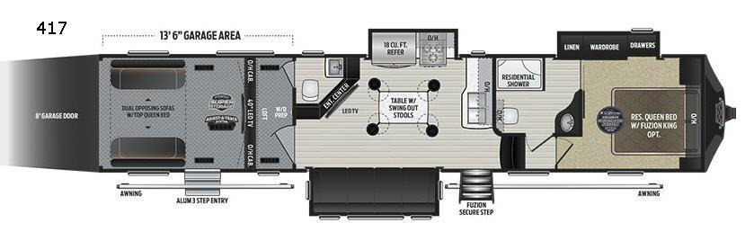 Fuzion 417 Floorplan Image