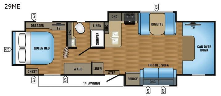 Greyhawk 29ME Floorplan Image