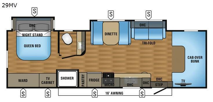 Greyhawk 29MV Floorplan Image