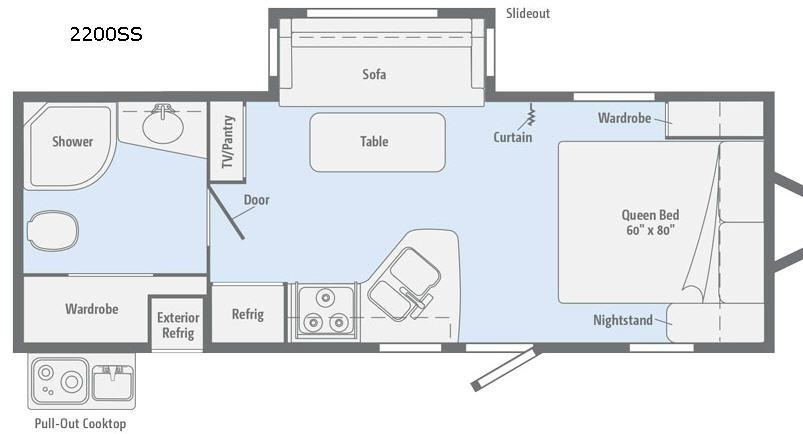 Minnie 2200 SS Floorplan Image