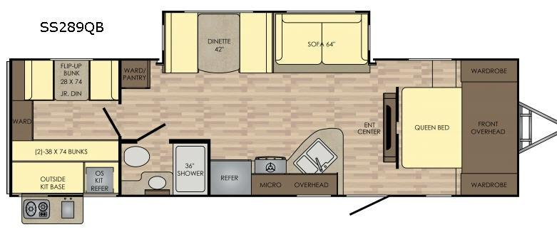 Sunset Trail Super Lite SS289QB Floorplan Image