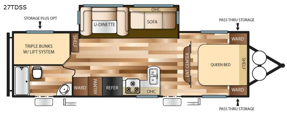 Wildwood 27TDSS Floorplan Image