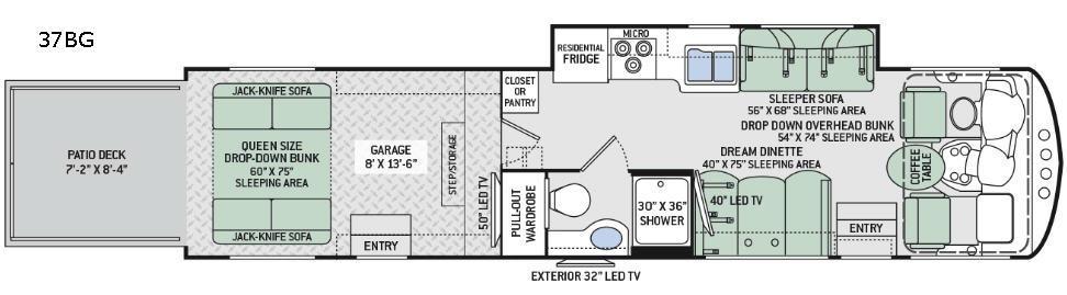 Outlaw 37BG Floorplan Image