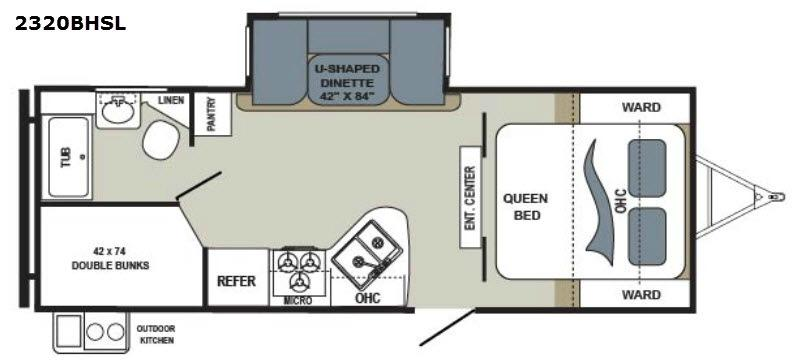 Aerolite 2320BHSL Floorplan Image