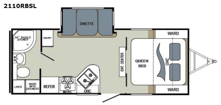 Aerolite 2110RBSL Floorplan Image