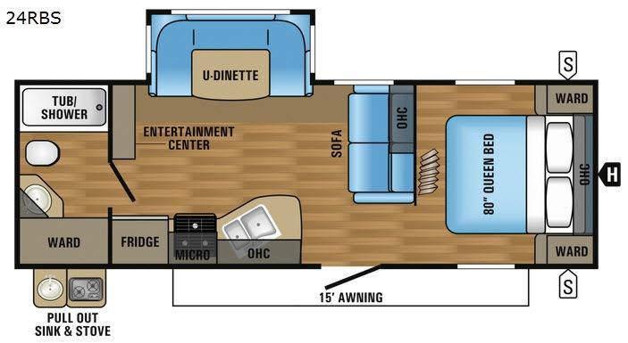 Jay Flight 24RBS Floorplan Image