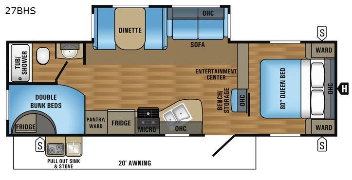 Jay Flight 27BHS Floorplan Image