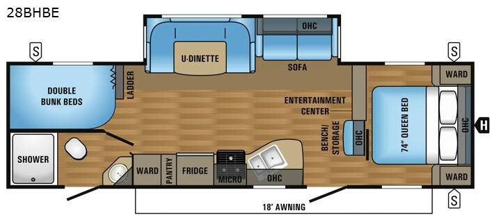 Jay Flight 28BHBE Floorplan Image