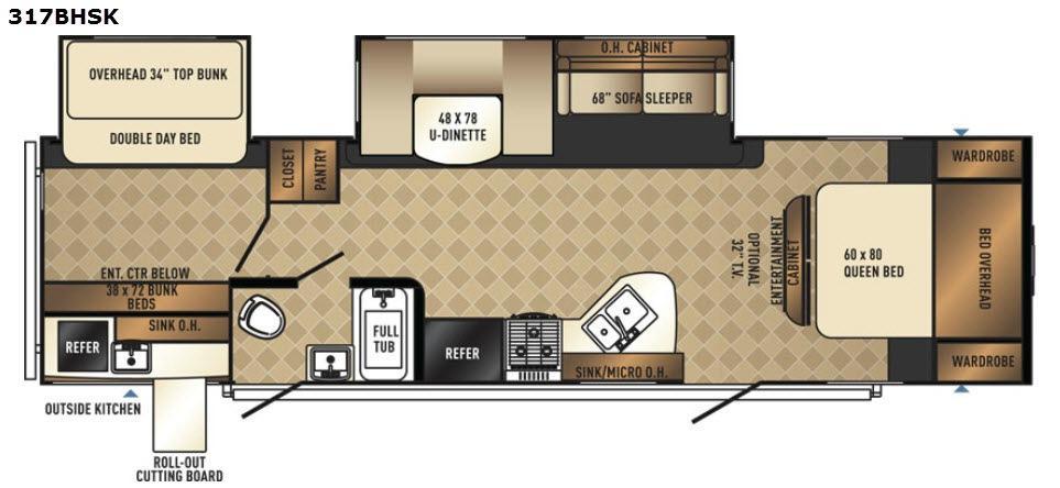 SolAire Ultra Lite 317BHSK Floorplan Image