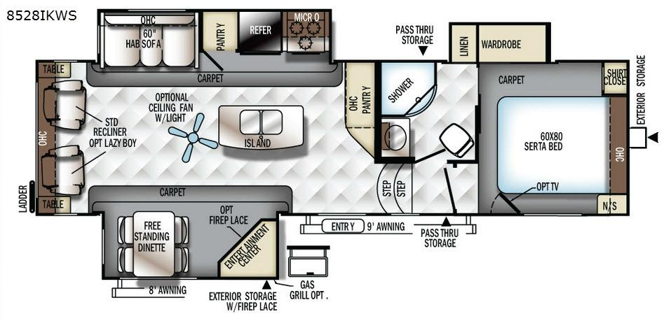 Flagstaff Classic Super Lite 8528IKWS Floorplan Image