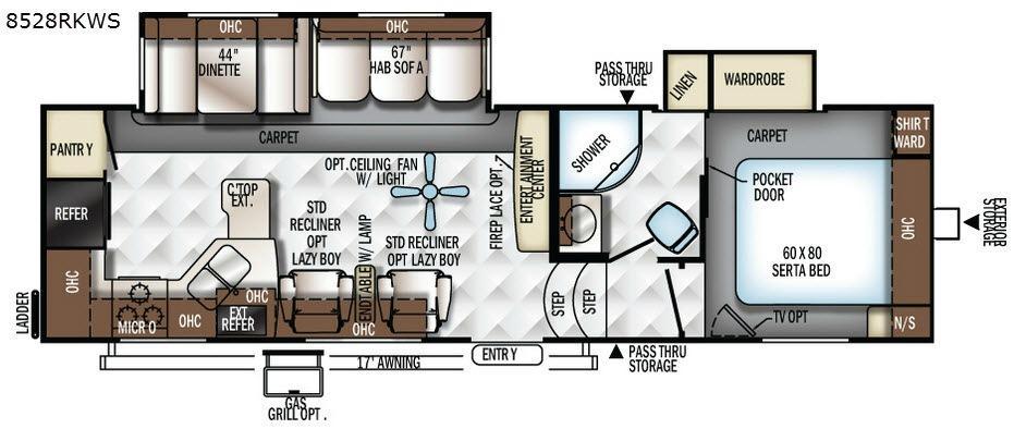Flagstaff Classic Super Lite 8528RKWS Floorplan Image