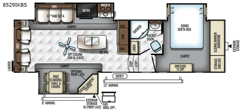 Flagstaff Classic Super Lite 8529IKBS Floorplan Image