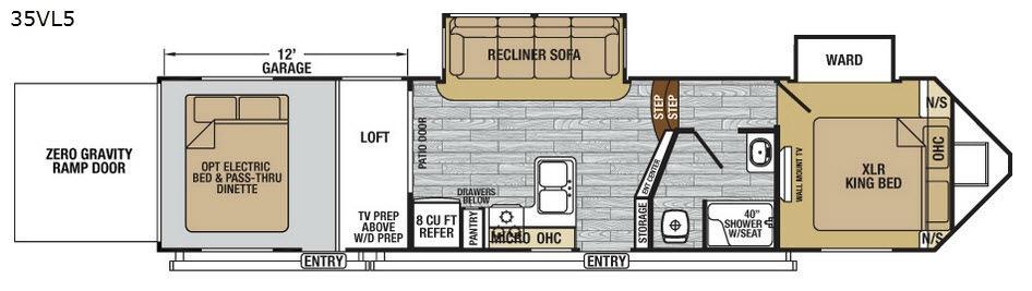 XLR Nitro 35VL5 Floorplan Image