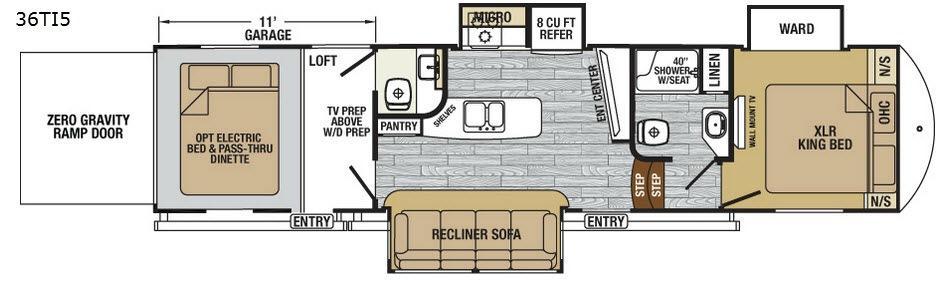 XLR Nitro 36TI5 Floorplan Image