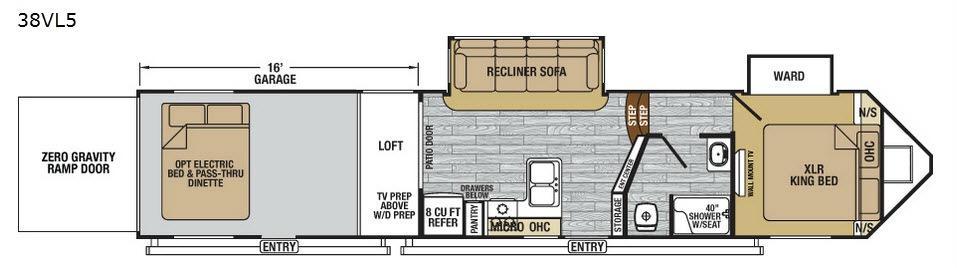 XLR Nitro 38VL5 Floorplan Image