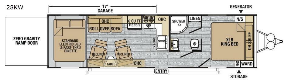 XLR Nitro 28KW Floorplan Image