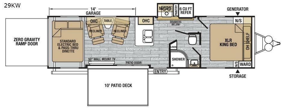 XLR Nitro 29KW Floorplan Image