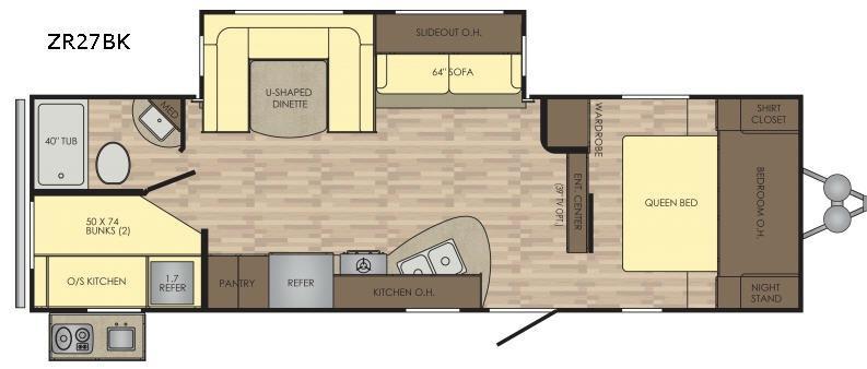 Zinger ZR27BK Floorplan Image