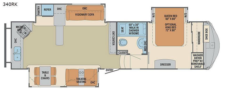 Columbus F340RK Floorplan Image