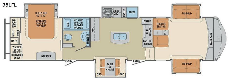 Columbus F381FL Floorplan Image