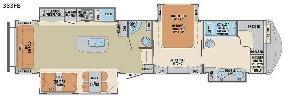 Columbus F383FB Floorplan Image