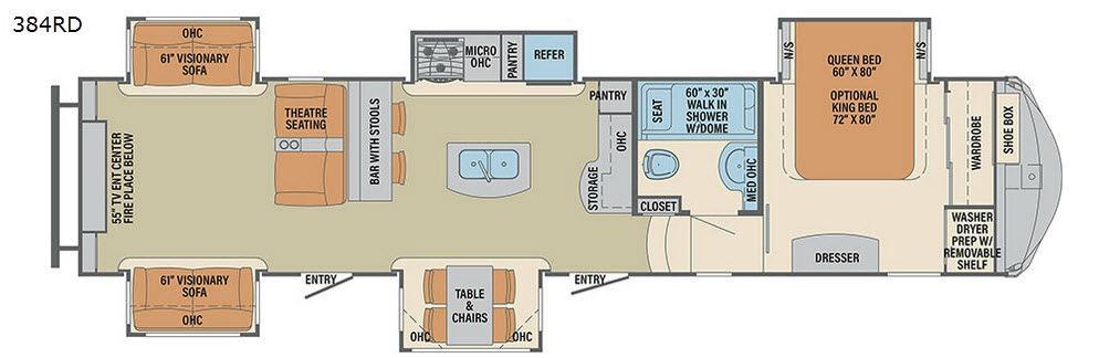 Columbus F384RD Floorplan Image