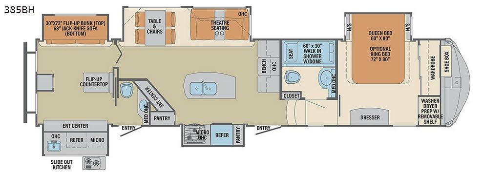 Columbus F385BH Floorplan Image