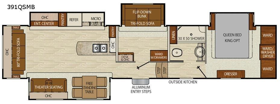 Chaparral 391QSMB Floorplan Image