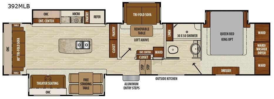 Chaparral 392MBL Floorplan Image