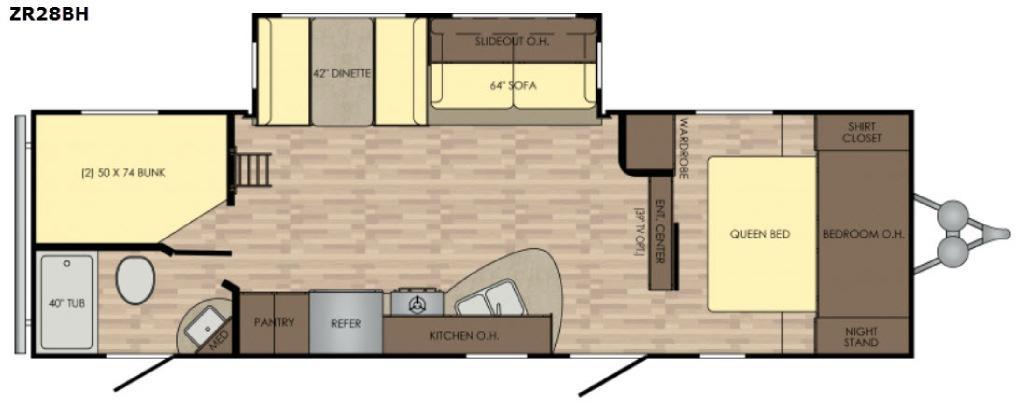 Zinger ZR28BH Floorplan Image