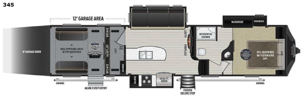 Fuzion 345 Floorplan Image