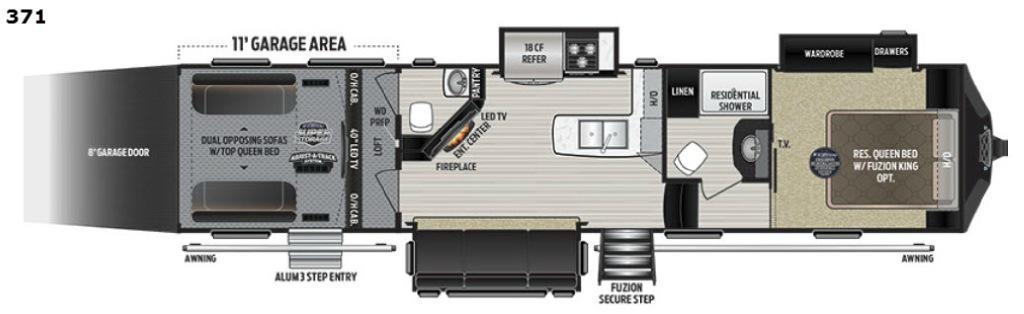 Fuzion 371 Floorplan Image