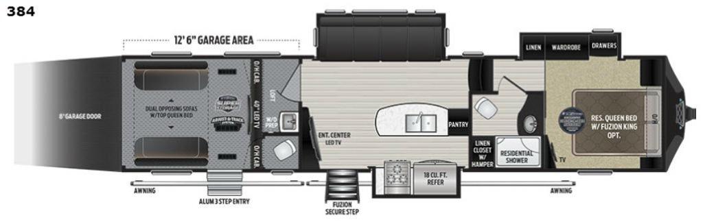 Fuzion 384 Floorplan Image
