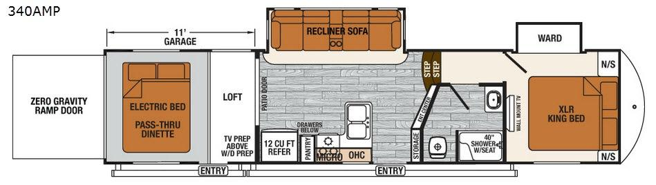 XLR Thunderbolt 340AMP Floorplan Image
