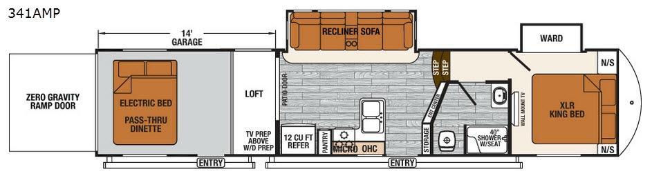 XLR Thunderbolt 341AMP Floorplan Image