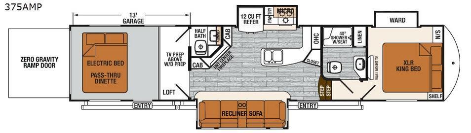 XLR Thunderbolt 375AMP Floorplan Image